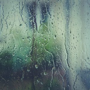 Raindrops on window