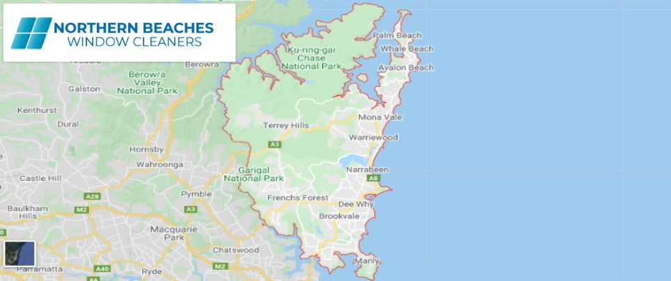 Northern Beaches Window Cleaners Service Area